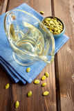 Pumpkin oil and seeds Stock Image