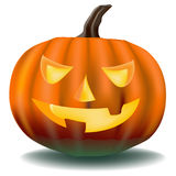 Pumpkin with ominous eyes Royalty Free Stock Photo