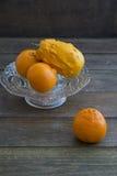 Pumpkin and orange Royalty Free Stock Image