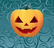 Pumpkin on Ornamental background. Halloween Pumpkin on Ornamental background stock illustration