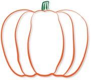Pumpkin outline design illustration with shadow effect stock illustration
