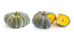 Pumpkin on over white background Stock Photography