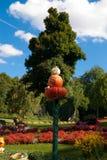 Pumpkin owl figurine Stock Photography
