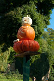 Pumpkin owl figurine Royalty Free Stock Photo