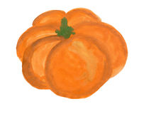 Pumpkin painted with gouache Royalty Free Stock Image