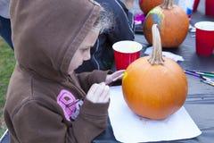 Pumpkin Painting Stock Photo