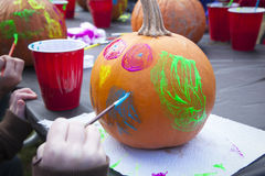 Pumpkin Painting Royalty Free Stock Images