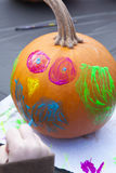 Pumpkin Painting Royalty Free Stock Photo