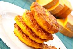 Pumpkin pancakes Stock Image