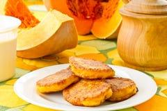 Pumpkin pancakes Royalty Free Stock Photos