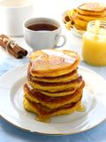 Pumpkin pancakes Royalty Free Stock Image