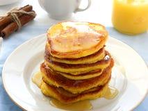Pumpkin pancakes Royalty Free Stock Photography