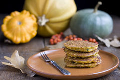 Pumpkin pancakes Stock Photo