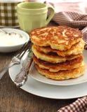 Pumpkin pancakes stock photo
