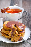 Pumpkin pancakes Royalty Free Stock Photos