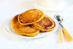 Pumpkin pancakes Stock Photography