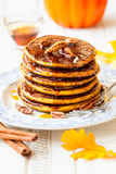 Pumpkin pancakes Royalty Free Stock Photo