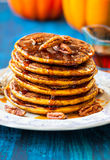 Pumpkin pancakes Royalty Free Stock Images