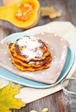 Pumpkin pancakes Royalty Free Stock Image