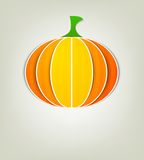 Pumpkin of paper. Creative halloween poster Royalty Free Stock Photo