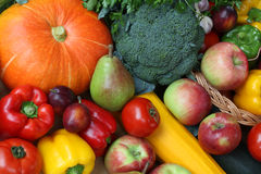 Pumpkin, paprika and broccoli Royalty Free Stock Images