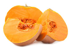 Pumpkin part on white Stock Photography