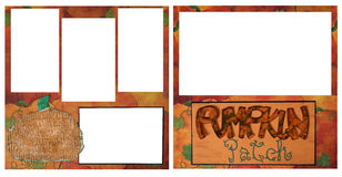 Pumpkin Patch Digital Scrapbook Page Stock Photo