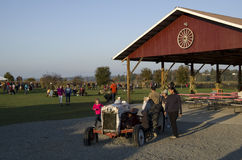 Pumpkin patch farm stock photos