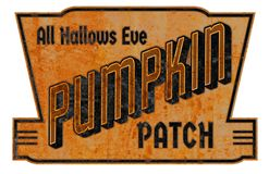 Pumpkin Patch Sign Tin Vintage. Pumpkin Patch Halloween Sign Rustic Vintage Grunge All Hallows Eve commerce Party October 31st stock photos