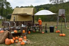 Pumpkin Patch stop during the Great Smoky Mountains Railroad ride. Through North Carolina and Tennessee Stock Image