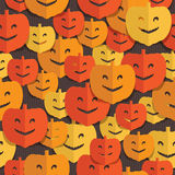 Pumpkin pattern stock illustration