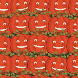 Pumpkin pattern Royalty Free Stock Images