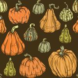 Pumpkin Pattern. Seamless pattern with pumpkins for Halloween and autumn design vector illustration