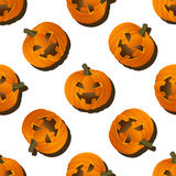 Pumpkin pattern on a white background Royalty Free Stock Image