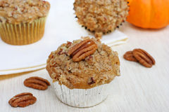 Pumpkin Pecan Muffins Royalty Free Stock Image