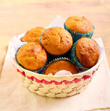 Pumpkin and pecan muffins Royalty Free Stock Photos