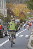 Pumpkin Pedalers Ride the Hood Stock Photography