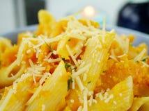 Pumpkin Penne Pasta Stock Image