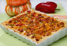 Pumpkin and pepper pie Stock Photography