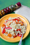 Pumpkin and pepper rice Royalty Free Stock Images