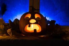 Pumpkin photo for a holiday Halloween. Stock Photo