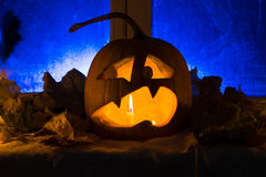 Pumpkin photo for a holiday Halloween. Royalty Free Stock Photos