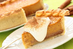 Pumpkin pie. Royalty Free Stock Photos