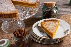 Pumpkin pie Stock Photos