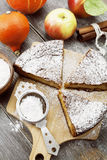 Pumpkin pie with apples and cinnamon Royalty Free Stock Images