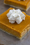 Pumpkin Pie Bars Royalty Free Stock Photos