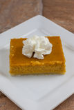 Pumpkin Pie Bars Royalty Free Stock Photography