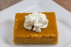 Pumpkin Pie Bars Royalty Free Stock Photo