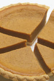 Pumpkin pie chart one Royalty Free Stock Image