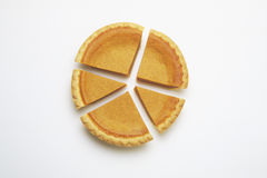 Pumpkin pie chart three royalty free stock image